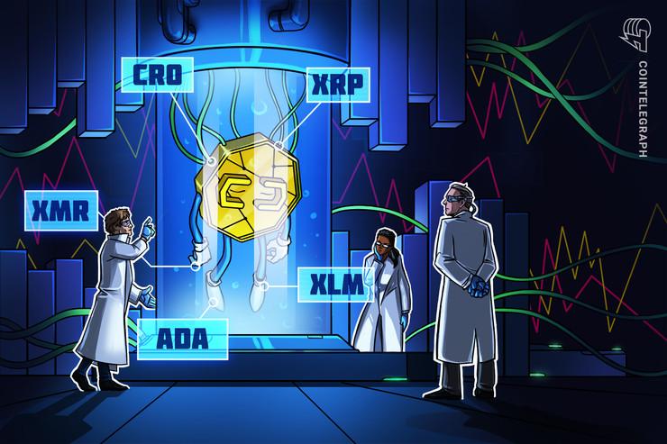 Las 5 criptomonedas con mejor desempeño al 29 de marzo: CRO, XMR, XRP, ADA, XLM