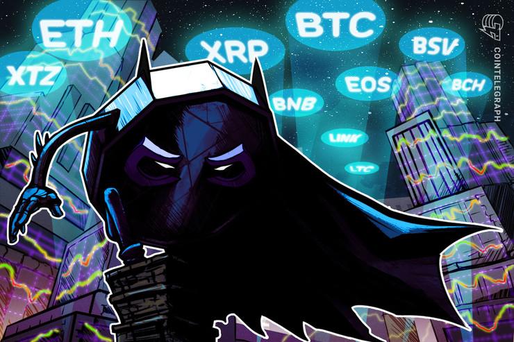 8000ドルへの上昇も視野に ビットコイン・イーサ・XRP(リップル)・ビットコインキャッシュ・ライトコインのテクニカル分析