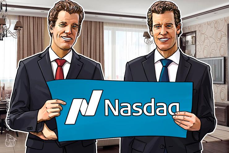 ウィンクルボス兄弟の仮想通貨取引所、ナスダックと市場監視で提携