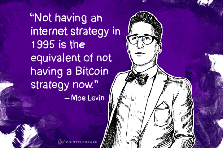 Not having an internet strategy in 1995 is the equivalent of not having a Bitcoin strategy now