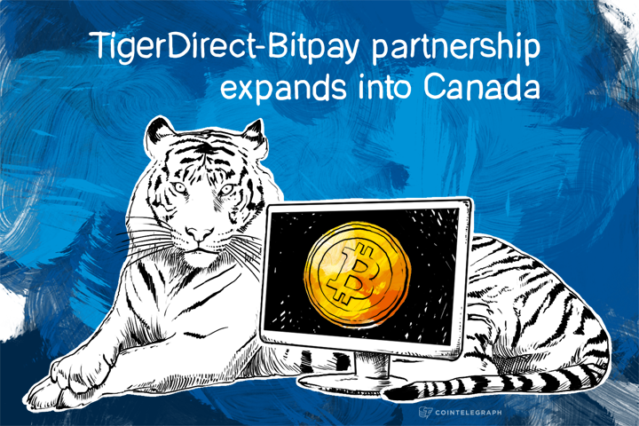 TigerDirect-Bitpay partnership expands into Canada