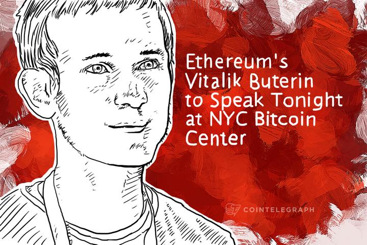 Ethereum's Vitalik Buterin to Speak Tonight at NYC Bitcoin Center