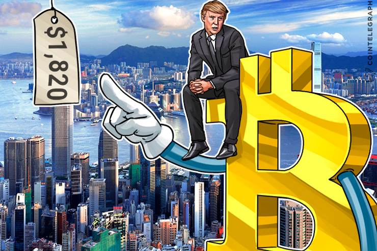 Bitcoin Price Surpasses $1,820 As Trump Troubles Lead to US Uncertainty