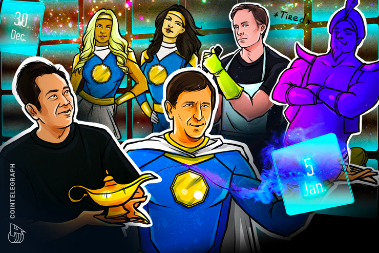 Telegram Attacks SEC, Bitmain Chaos, BTC 'Easily' $50K: Hodler's Digest, Dec. 30–Jan. 5