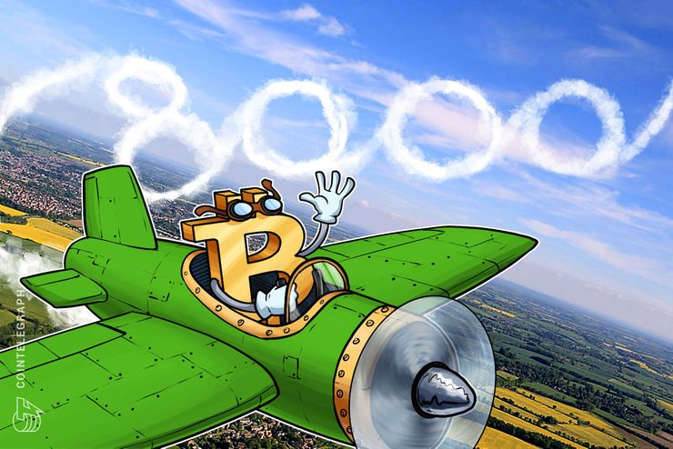 Il Bitcoin sfonda il muro degli 8.200$, leggera ripresa anche per le altre criptovalute