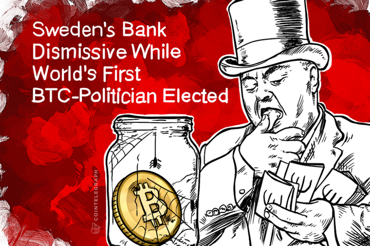 Sweden's Bank Dismissive While World's First BTC-Politician Elected