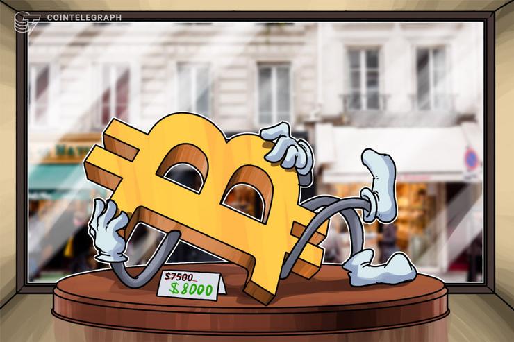 仮想通貨ビットコイン反発、一時8000ドル回復 ライトコインは1年ぶりの高値を更新