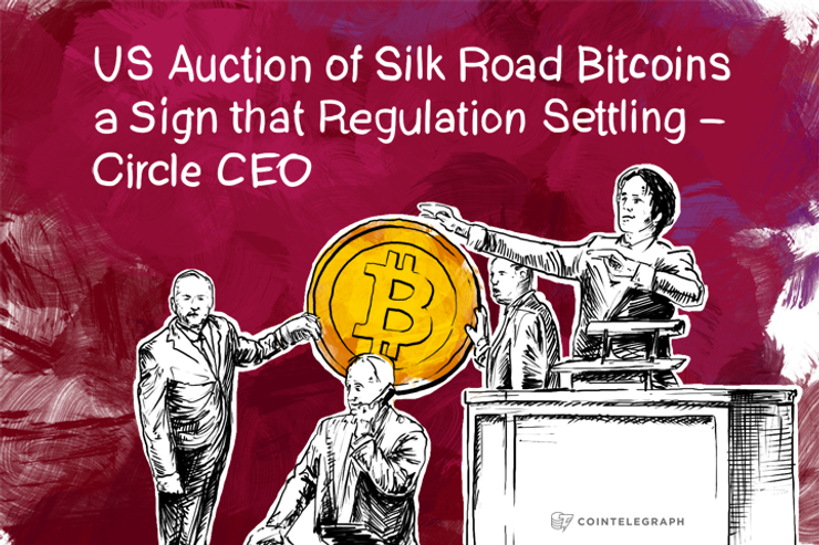 US Auction of Silk Road Bitcoins a Sign that Regulation Settling – Circle CEO