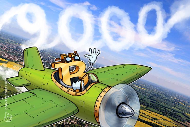 Bitcoin supera los USD 9,000 por primera vez desde el 2018