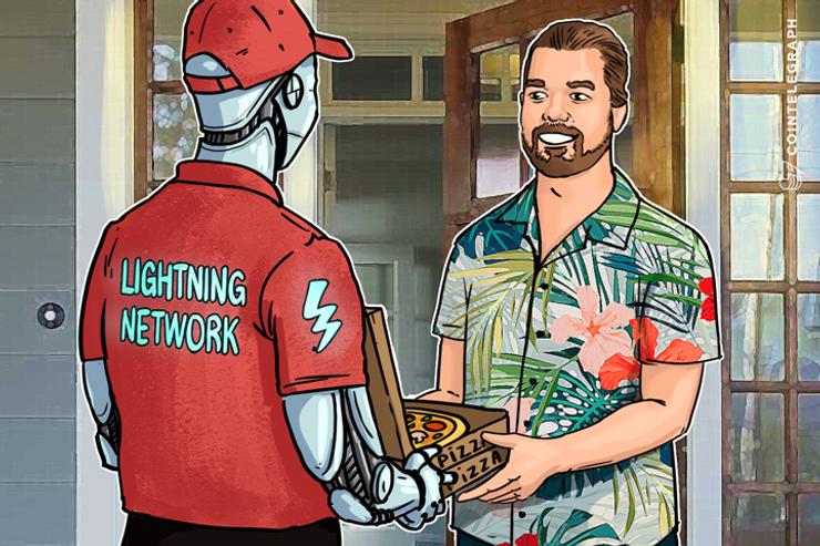 元祖「ビットコイン建てピザ購入男」今度は世界で初めてライトニングネットワークでピザ購入