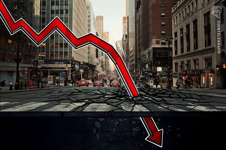 NY株式市場の急落がマイナス材料に、仮想通貨ビットコイン相場分析