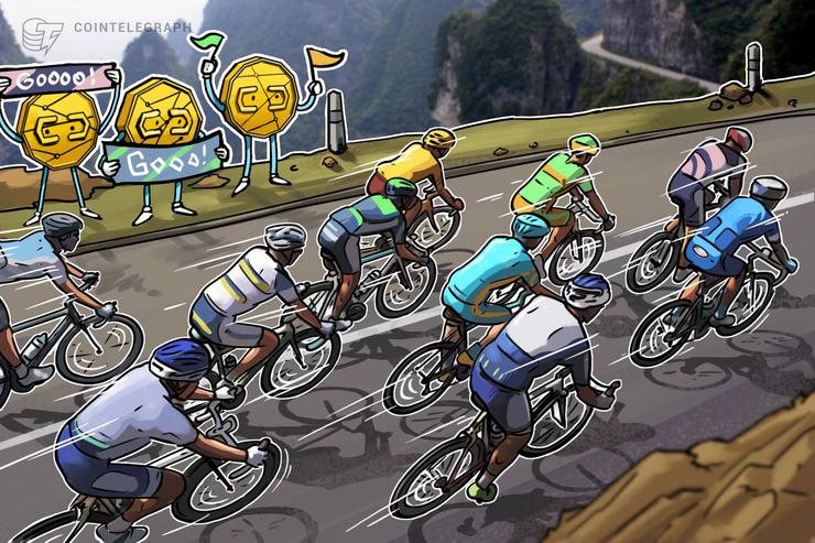 """La primera """"bicicleta electrónica de criptomoneda"""" del mundo, corredores ganan $26 por 1600 kilómetros"""