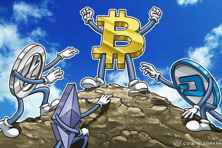 Bitcoin, 9 Top Altcoins Capture 90% Crypto Market Share With $150 Bln Cap