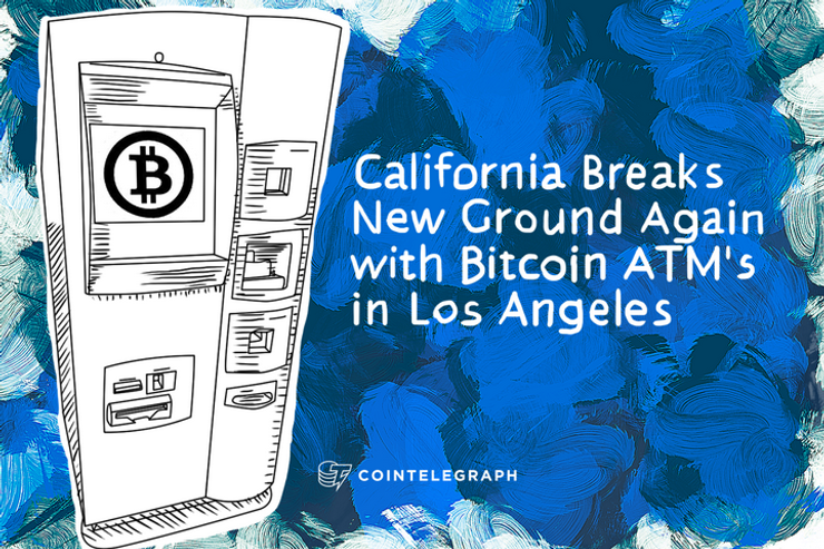 California Breaks New Ground Again with Bitcoin ATM's in Los Angeles