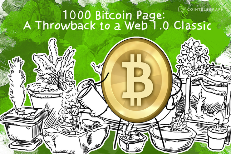 1000 Bitcoin Page: A Throwback to a Web 1.0 Classic