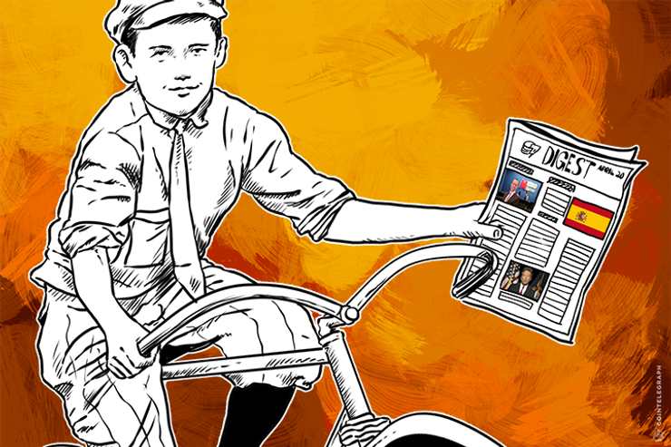 APR 20 DIGEST: Spain VAT Exempts Bitcoin, UK Bankers to Discuss Crypto at SWIFT Event