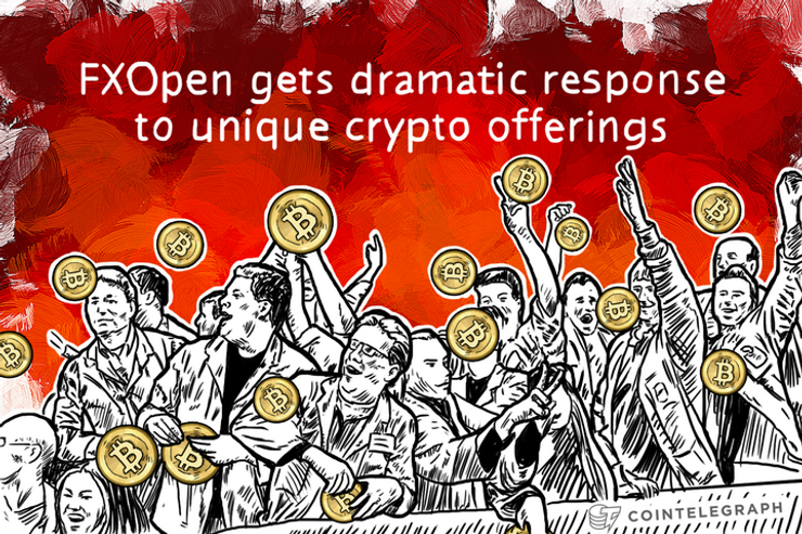 FXOpen gets dramatic response to unique crypto offerings
