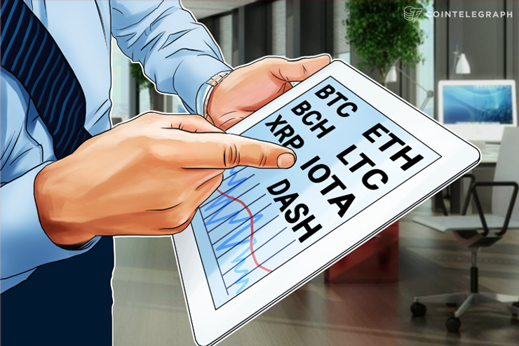 12月14日チャート分析・ビットコイン、イーサ、リップル、ビットコインキャッシュ、IOTA、ライトコイン、ダッシュ