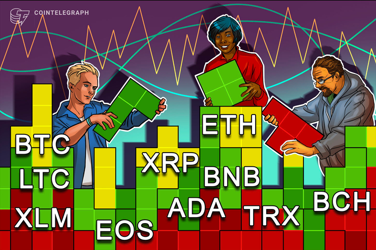 Bitcoin, Ethereum, Ripple, Bitcoin Cash, Litecoin, EOS, Binance Coin