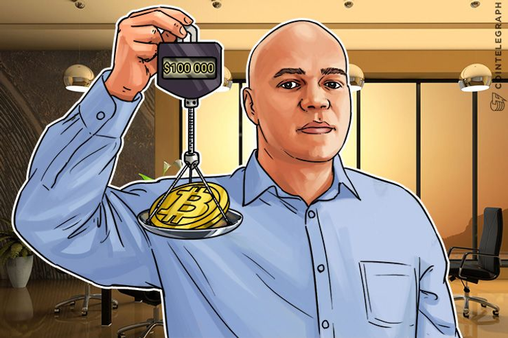 Saxo Bank's Van-Petersen: Bitcoin Price At $100k By 2019 Is 'Prudent'