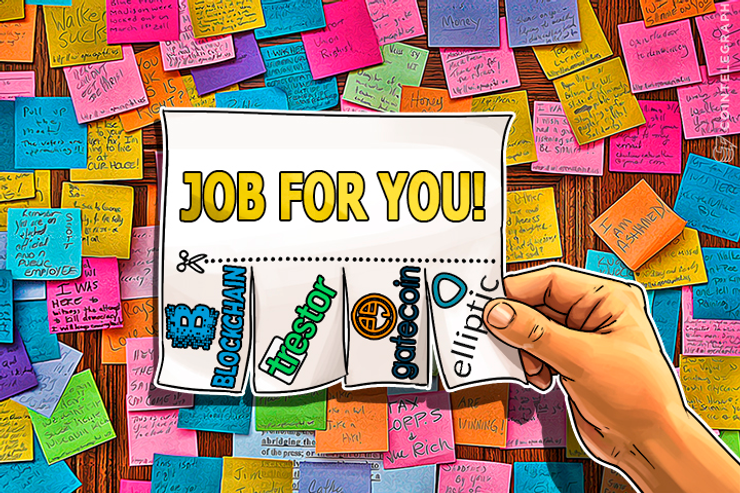 Cointelegraph Jobs: Blockchain, GateCoin, Elliptic, Trestor Seeking Employees