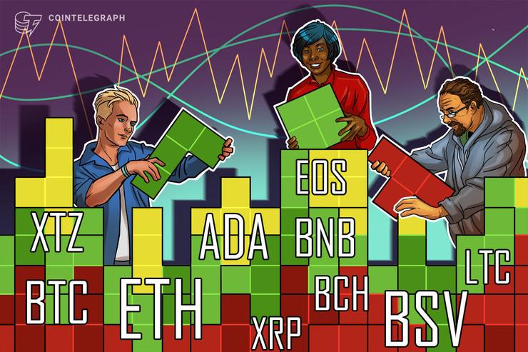 Price Analysis 6/3: BTC, ETH, XRP, BCH, BSV, LTC, BNB, EOS, XTZ, ADA