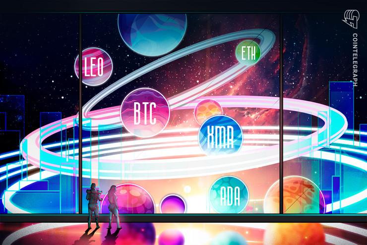 Las 5 principales criptomonedas para observar esta semana: BTC, ETH, ADA, LEO, XMR