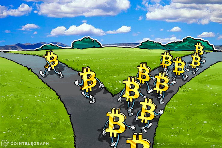 Bitcoins on a bifurcated trail