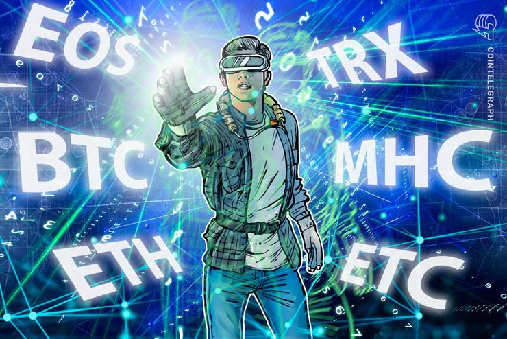 Top 5 Crypto Performers: BTC, EOS, ETH, TRX, ETC, MHC*