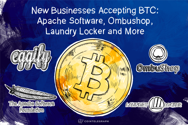 New Businesses Accepting BTC: Apache Software, Ombushop, Laundry Locker and More