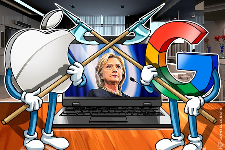 Hillary Clinton Sought Apple and Google's Blessing on Her Encryption Stance