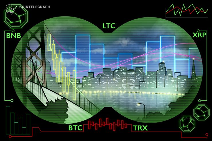 Top 5 Crypto Performers Overview: Litecoin, Binance Coin, Ripple, Bitcoin, Tron