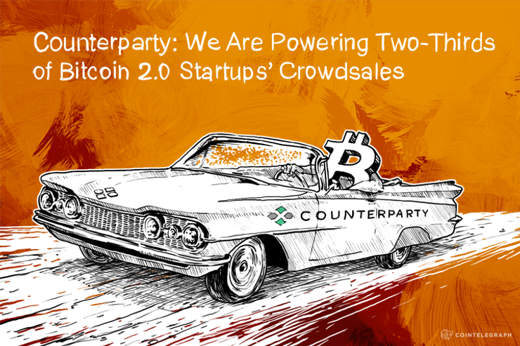 Counterparty: We Are Powering Two-Thirds of Bitcoin 2.0 Startups' Crowdsales