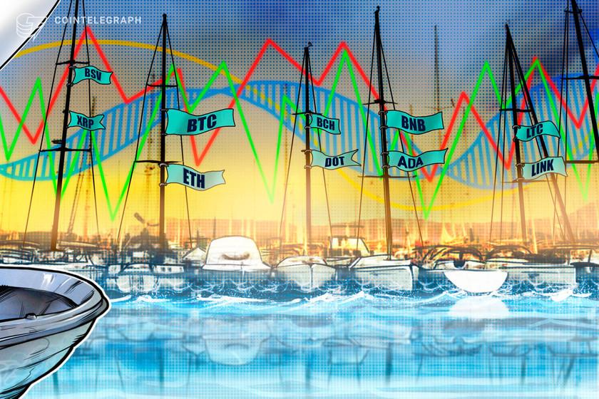 Price analysis 10/28: BTC, ETH, XRP, BCH, LINK, BNB, DOT, LTC, BSV, ADA