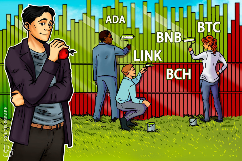 Top 5 cryptocurrencies to watch this week: BTC, BNB, ADA, BCH, LINK