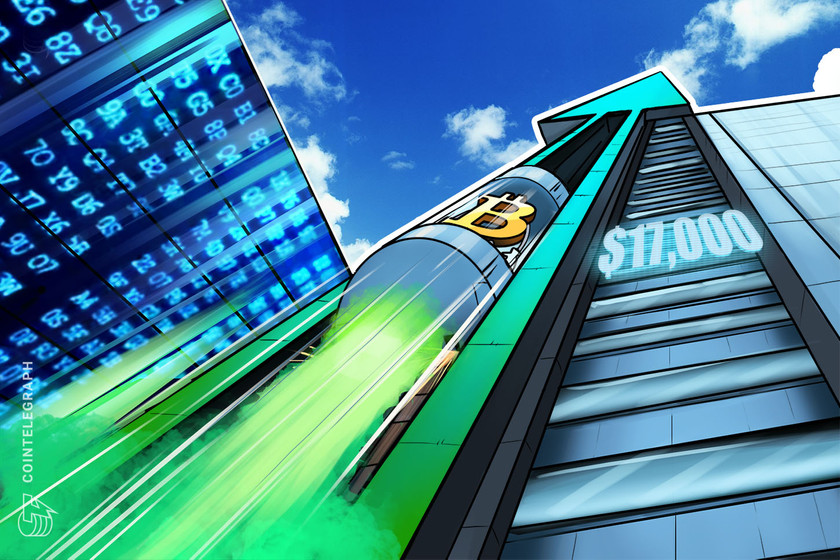 3 reasons Bitcoin price hit $17K, marking a new parabolic uptrend