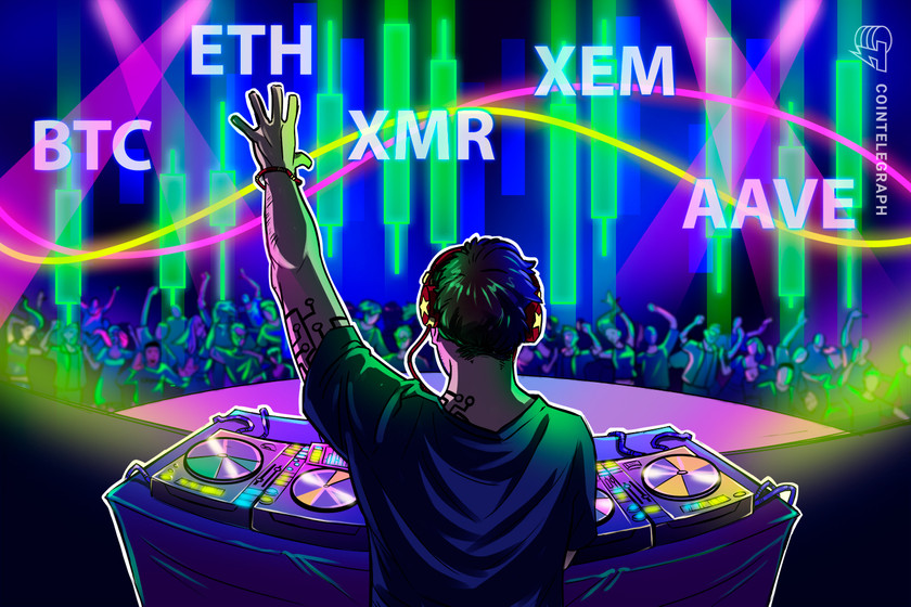 Top 5 cryptocurrencies to watch this week: BTC, ETH, XMR, XEM, AAVE