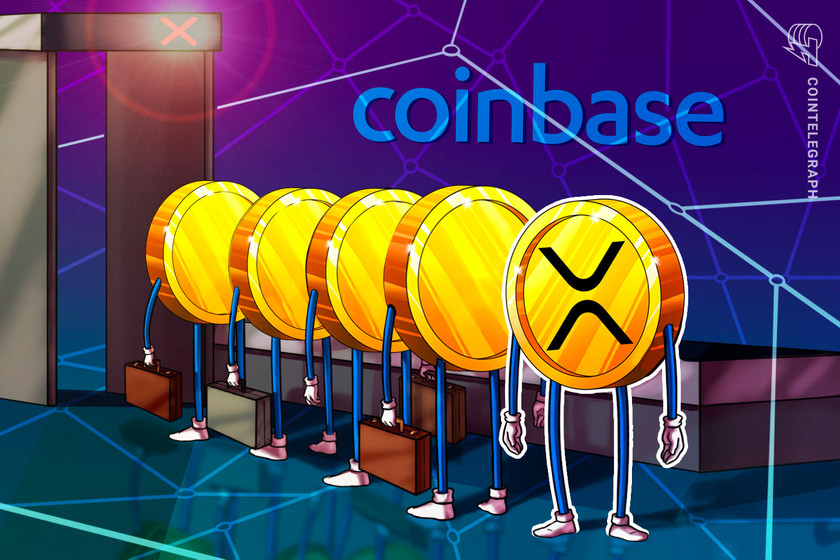 Coinbase announces it will suspend XRP trading as price drops another 10%