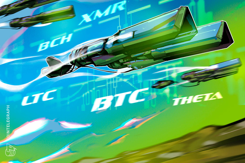 Top 5 cryptocurrencies to watch this week: BTC, LTC, BCH, XMR, THETA
