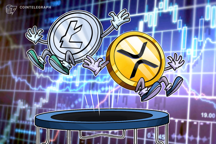 Litecoin briefly flips XRP as 4th largest crypto amid Ripple-SEC spat
