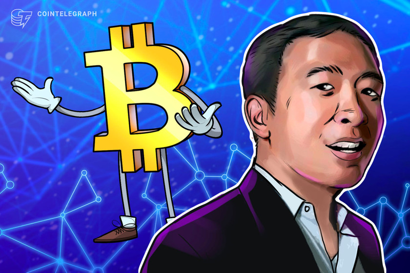 Andrew Yang says he'll transform NYC into a Bitcoin hub if elected mayor