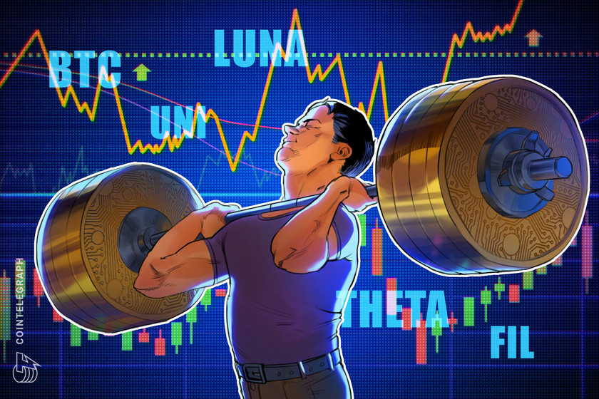Top 5 cryptocurrencies to watch this week: BTC, UNI, LUNA, THETA, FIL