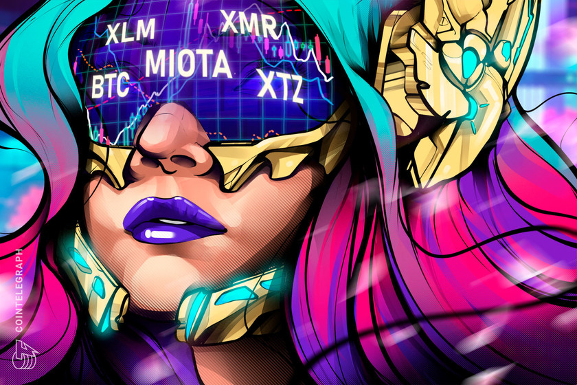 Top 5 cryptocurrencies to watch this week: BTC, XLM, MIOTA, XMR, XTZ