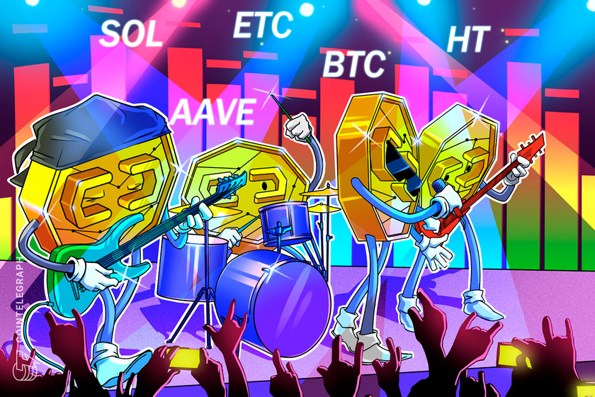 Top 5 cryptocurrencies to watch this week: BTC, SOL, HT, ETC, AAVE