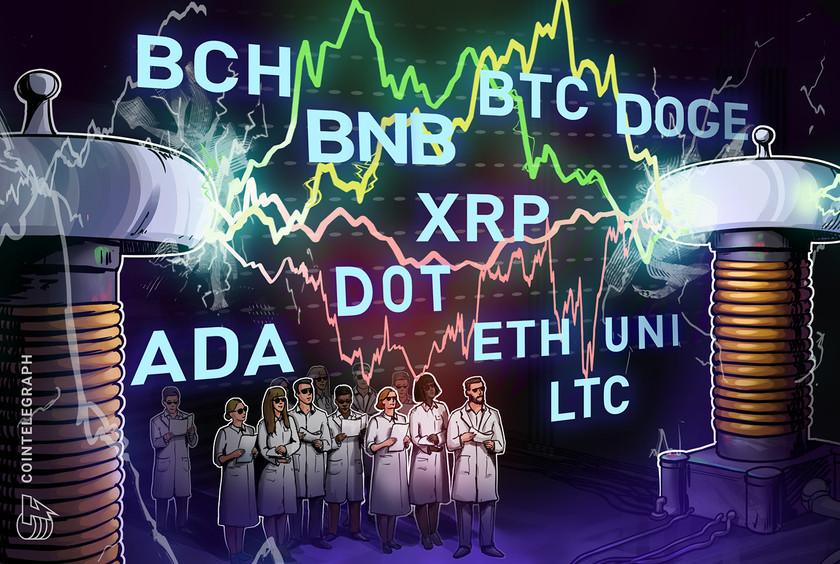 Price analysis 5/5: BTC, ETH, BNB, DOGE, XRP, ADA, DOT, LTC, BCH, UNI