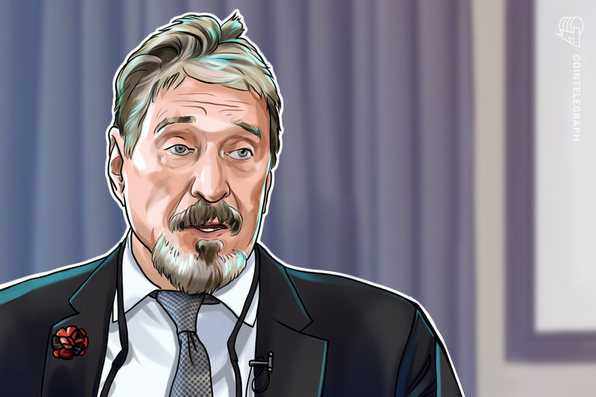 'I have nothing': Imprisoned John McAfee claims his crypto fortune is gone