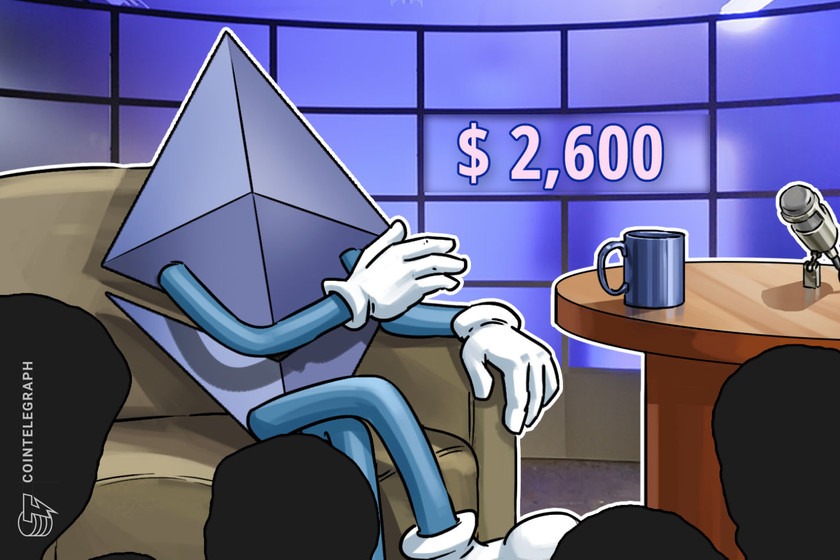 Ethereum price bounce to $2.6K fails to excite neutral-to-bearish pro traders