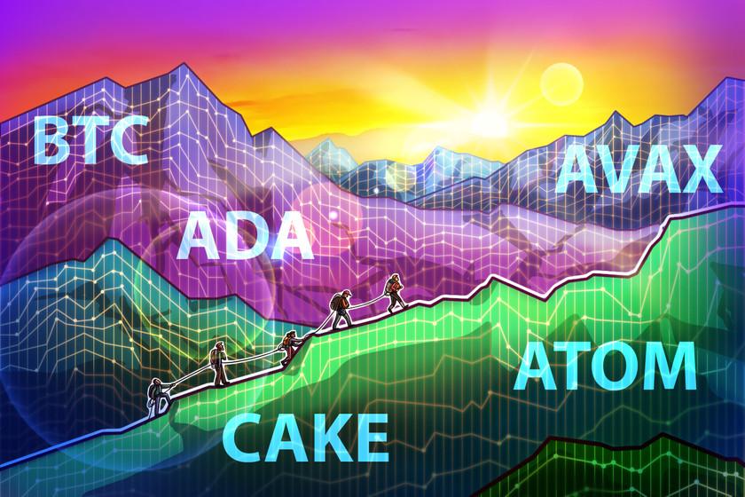 Top 5 cryptocurrencies to watch this week: BTC, ADA, AVAX, CAKE, ATOM