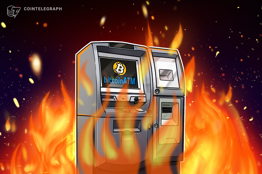 Protesters burn Bitcoin ATM as part of demonstration against El Salvador president