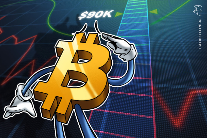 BTC price 'on the way to $90K' — 5 things to watch in Bitcoin this wekk